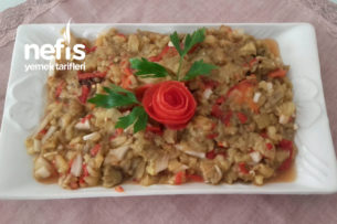 Köz Patlıcan Biber Salatası Tarifi