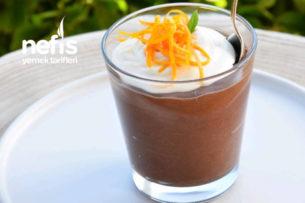 Çok Pratik Çikolatalı Mus (Yumurtasız Ve Portakallı) Tarifi