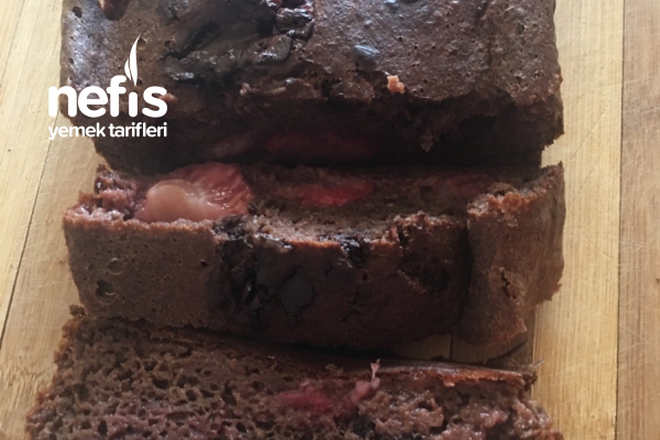 Çilekli Çikolatalı Şekersiz Kek