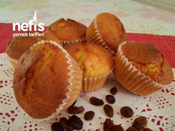 Üzümlü Reçel Dolgulu Muffin Kek