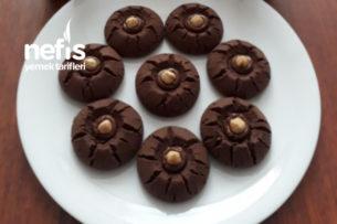Çikolatalı Fındıklı Kakaolu Kurabiye (Ağızda Dağılan) Tarifi