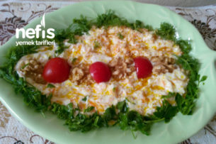 Labneli Yoğurtlu Cevizli Havuç Salatası Tarifi
