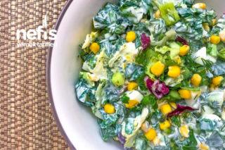 Mısırlı Yumurtalı Yeşillik Salatası Tarifi