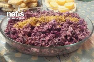 Kırmızı Lahana Salatası (Cevizli Ve Lezzeti Şahane) Tarifi