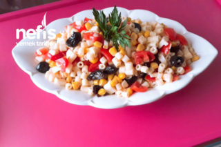 Yedikçe Yediren Makarna Salatası Tarifi