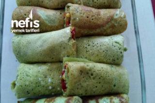 Ispanaklı Krepte Sarma Salata Tarifi