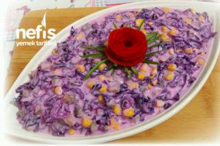 Yoğurtlu Mor Lahana Salatası (Yedikçe Yedirten) Tarifi