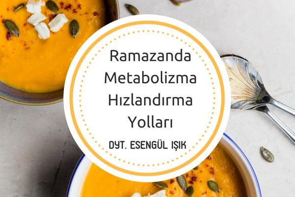 Ramazanda Metabolizmayı Nasıl Hızlandırırız? Diyetisyen Cevapladı Tarifi