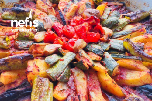 Fırında Karışık Sebze Kızartması Tarifi