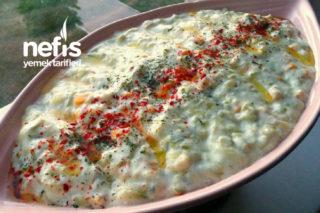 Pratik Nefis Yoğurtlu Kabak Salatası Tarifi