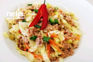 Lahanalı Ton Balığı Salatası Tarifi