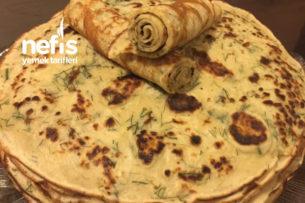 Dereotlu Beyaz Peynirli Krep Tarifi