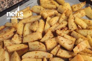 Fırında Tereyağlı Elma Dilim Patates Tarifi