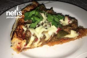 Kavurmalı Milföy Pizza Tarifi