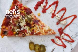 Pastırmalı İncecik Pizza Tarifi
