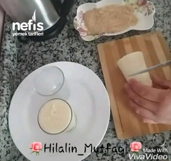Bardakta Bisküvili Tavuk Göğsü