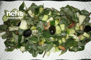 Yeşil Elmalı Semiz Otu Salatası Tarifi