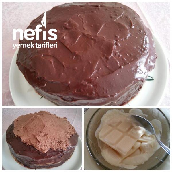 Çikolatalı Meyveli Doğum Günü Pastası