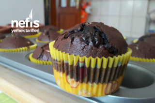 Dolgulu Bol Çikolatalı Nefis Muffinler Tarifi