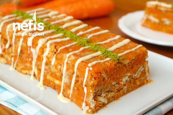 Havuçlu Mozaik Pasta (videolu) Tarifi