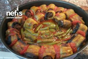 Köfteli Rulo Patlıcan Yemeği Tarifi