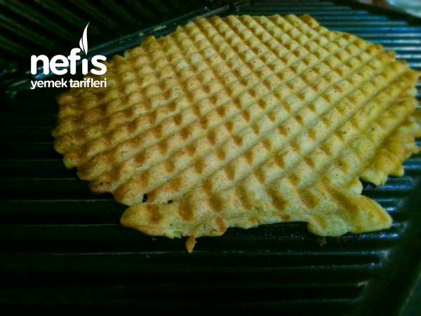 Tost Makinasında Muzlu Waffle