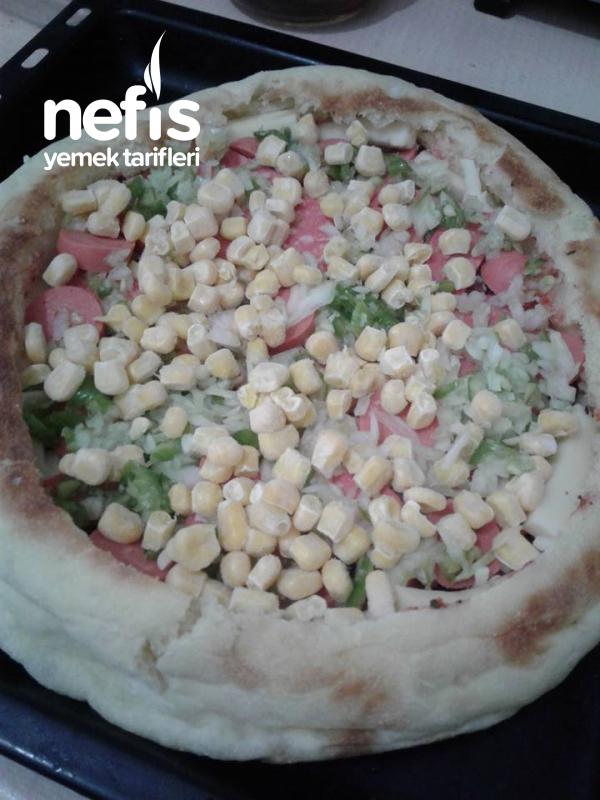 Bazlamadan Bolmalzemos Pizza