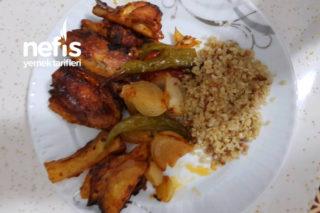 Fırında Mangal Tadında Sebzeli Kanat Tavuk Tarifi