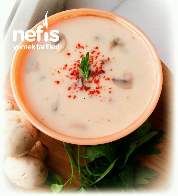 Nefis Kremalı Mantar Çorbası (En Pratiğinden)