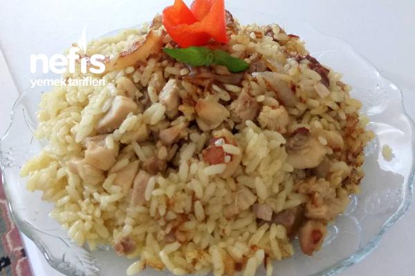 (Tavuklu Körili Soğanlı) Pirinç Pilavı Tarifi