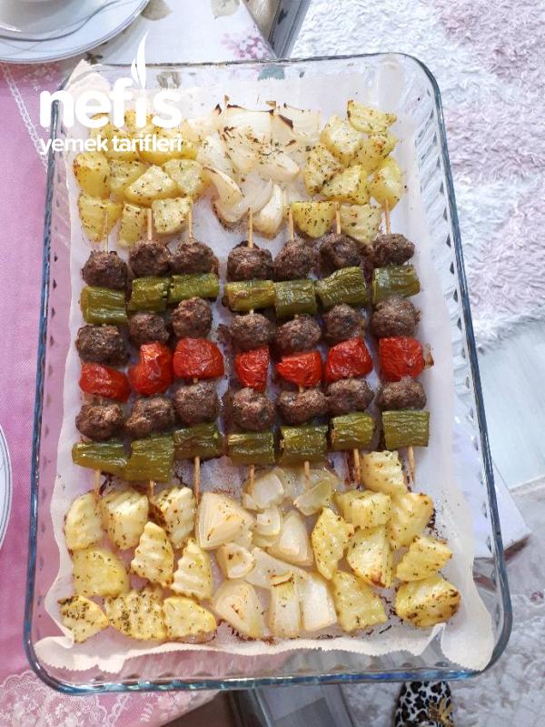Çöp Şiş Köfte & Patates