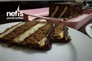 Kek Tadında İki Renkli Bisküvili Pasta Tarifi