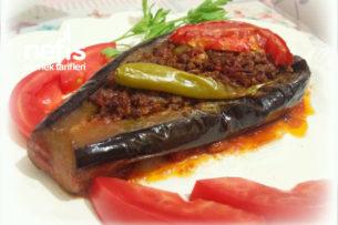 Nefis Köz Patlıcanla Karnıyarık (Kızartmaya Son) Tarifi