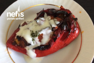Fırında Kırmızı Biber (Sebzeli) Tarifi
