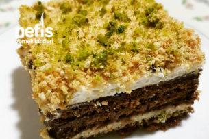Bisküvi Pastası (Yaş Pasta Tadında) Tarifi