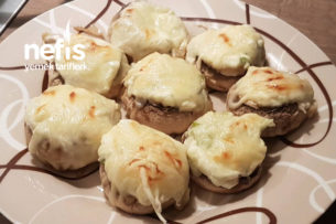 Fırında İçi Peynir Dolgulu Kaşarlı Mantar Tarifi