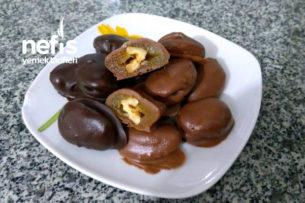 Çikolata Kaplı Cevizli Kayısı Şekeri Tarifi