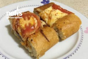Sucuklu Kaşarlı Baton Ekmek ( kahvaltılık ) Tarifi