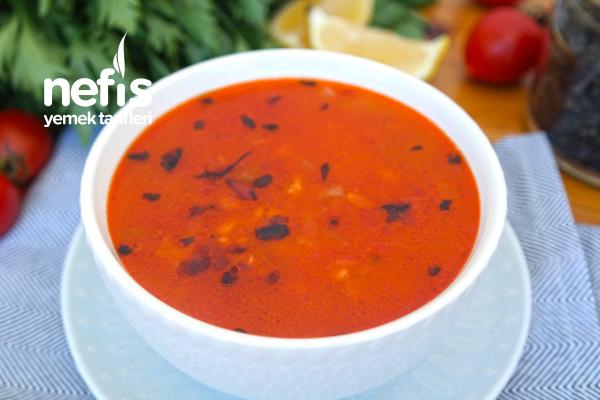 Domatesli Bulgur Çorbası Tarifi (videolu)