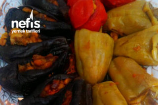 Patlıcan Biber Domates Dolması (Badımcan Dolması) Tarifi