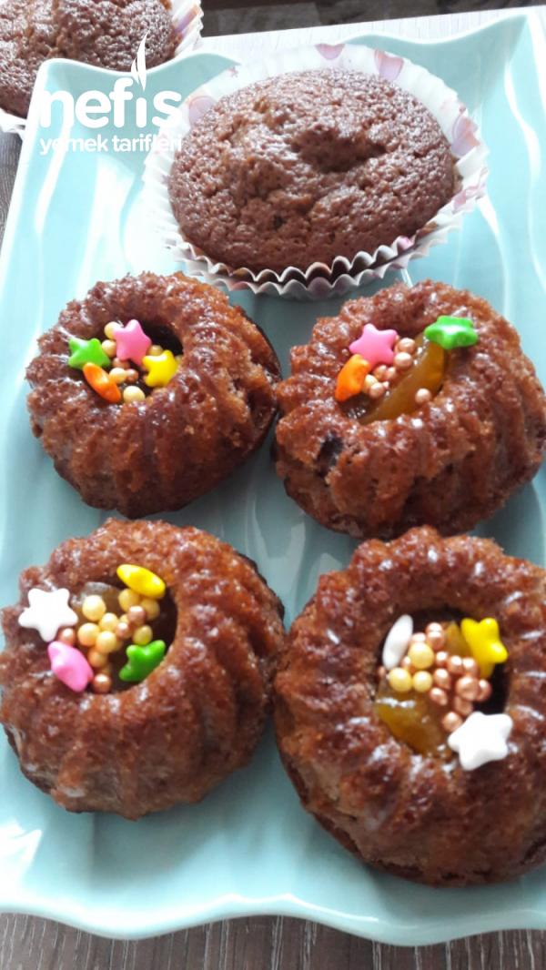 Mini Kekler (silikon Kaplarda)