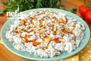Labneli Köz Patlıcan Salatası (Muhteşem Lezzet) (videolu) Tarifi