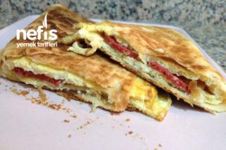 Lavaşta Omlet Gözleme (Haftasonu Kahvaltısı) Tarifi