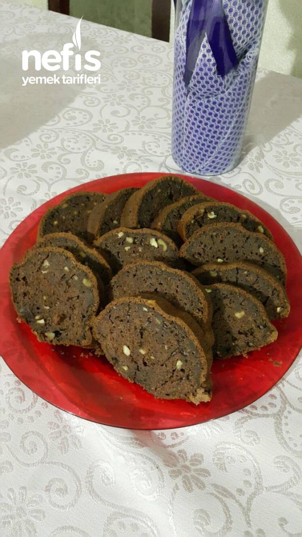 Artan Elmalı Harç İle Kakaolu Kek