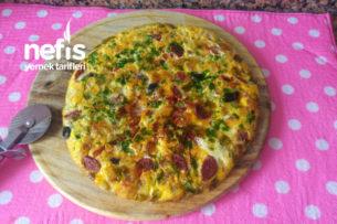 Tavada Pizza Omlet Tarifi