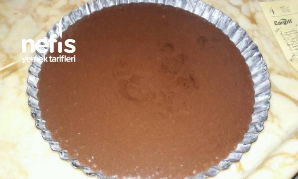 Karamelli Çikolatalı Tart Kek