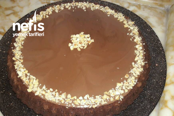 Karamelli Çikolatalı Tart Kek (videolu) Tarifi