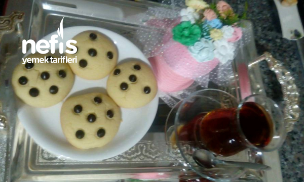 Damla Çikolatalı Pastane Tadında Kurabiye(vita Yağlı)