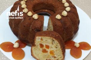 Labneli Kayısılı Fındıklı Kek Tarifi