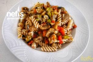 Tahıllı Makarnalı Patlıcan Salatası Tarifi